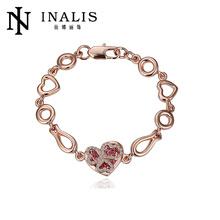 18K real rose gold plated crystal Bracelets