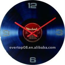 ETG8812R vintage wall clock with Vinyl Record design