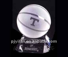 elegant clear glass crystal basketball