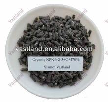 Organic NPK 6-2-3+OM 70% npk organic compost