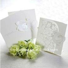 Novel flower cheap wedding invitation card 0017 wedding crafts