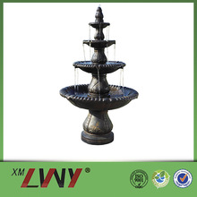 68 Inches polyresin resin 4 tier superior adhesive properties outdoor fountain