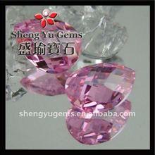 pink 2mm teardrop shape cubic zirconia beads in bulk