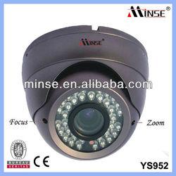 CCTV IP66 Waterproof Dome Camera, Sony Effio-e 700tvl 4-9mm Varifocal Manual Zoom and Focus IR Color CCD Camera