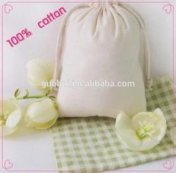 100% natural samll cotton/canvas drawstring bag