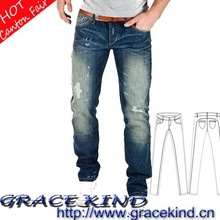 100% Cotton Skinny Denim Mens Jeans(GK258#)