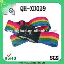 2012 promotion embroidered tsa lock suitcase strap belt