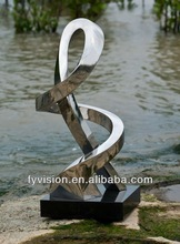 Bending Abstract Sculptures For Hotel Decoration