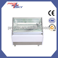 NOVA 240 gelato hard ice cream glass food display equipment