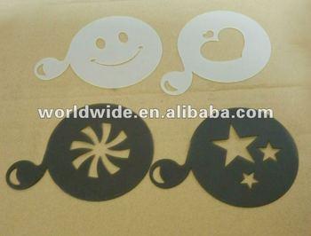 Promotion Various Design Plastic Coffee Stencil