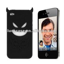 Black devil back cover for apple iphone 4/4s