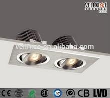 Newest 2 heads high lumen LED recessed downlight / High luminous LED light / 2 heads