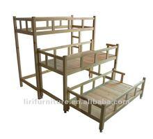 Stackable Kindergarten wood bed