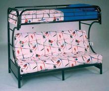 Modern C-futon black metal frame bunk bed