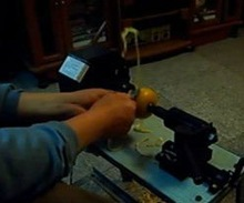 good performance semi-automatic peach peeler machine/kiwi peeling machine