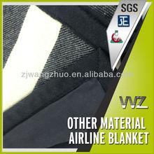 Stripe Design Warm Soft Hand Feeling Wool feeling luxury Hotel Blanket Flame Retardant 100% modacrylic or 100% wool Blanket