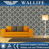 DH010106 / Wallife black damask deisgn pvc vinyl decorative wallpaper wholesale