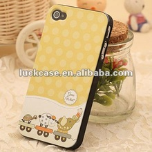 For apple iphone 4s custom back cover cute animals plastic case for iphone 4s