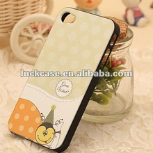 2012 green hard case for iphone 4s 4g custom high quality plastic case