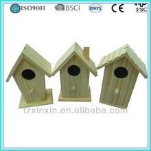 Wooden Bird House Handmade DIY bird cage