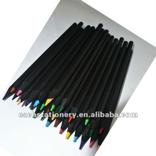 2013 hot sale hexagonal black wood colored pencil manufacturer