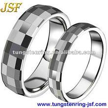 fashion men & women tungsten wedding ring sets