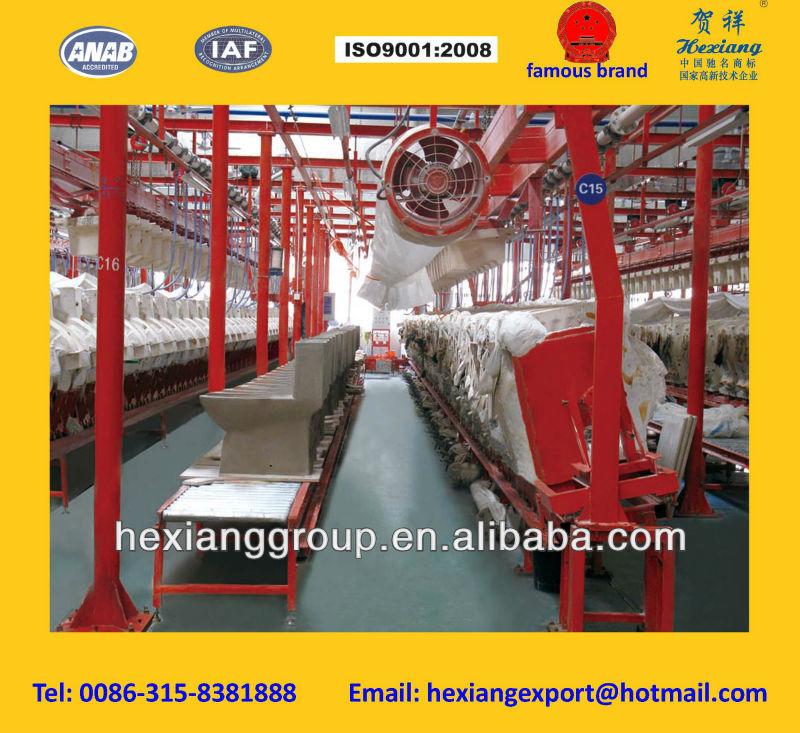 Elevación de colada de cerámica en la producción de la máquina de una sola pieza de tocador o dos piec higiénico