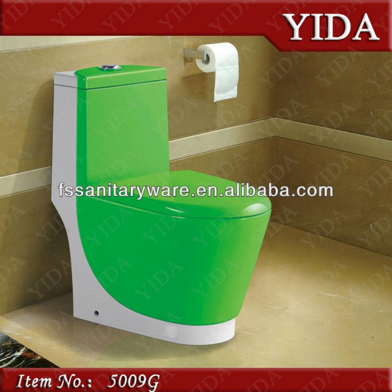 Taza De Baño One Piece:De color verde de una sola pieza y de color taza del inodoro para este