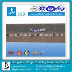 ISO9001 Approved Laminated Asphalt Roof Tile For Cheap Roof Tile