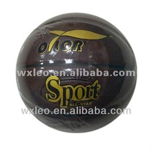 Basketball supplier,PVC laminated basketball newest design for hot sale