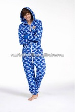 All over printed adult pajamas onesies