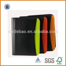 Promotional a4 leather portfolio folders,pu leather business portfolio,zippered design portfolio bag