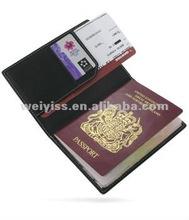 leather passport travel ticket holder