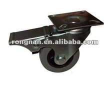Swivel Plate Brake Rubber Casters