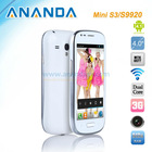 4 inch Android MTK6577 Small Size Mobile Phones Mini S3 S9920
