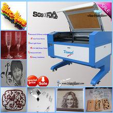 Manufacturer 80W wood,leather, fabric, pvc, acrylic co2 laser cutting machine