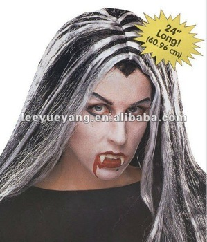 hot selling white and black vampire halloween wig