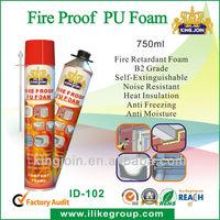750ml fire proof polyurethane foam insulation spray