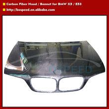 High quality Carbon Fiber Hood for BMW X5 / E53 Cars