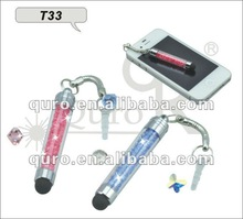 Mobile phone lighting flash touch pen