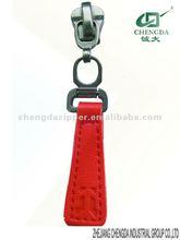 5# Fashion Red Leather puller slider of Jacket