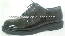 V-AOF-012 Man Military Boots Black Leather Men Shoes
