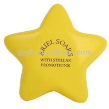 2014 custom design souvenir star polyurethane foam stress ball