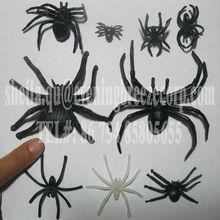 wholesale halloween glowing in dark black plastic spider
