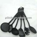 de alta calidad competitiva 6 piezas de plástico de nylon utensilios de cocina