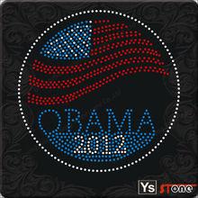 Barack Obama Portrait Rhinestud Hot Fix Transfer