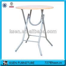 Round wood top folding folding bar table KC-7539TS