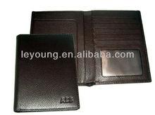 Business Custom Pocket travel leather passport cover
