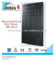 300w full black mono PV Solar Panel module for roof solar system