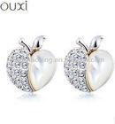 Hot Sale apple shape earrings Ear Stud with Austrian Crystals 20281